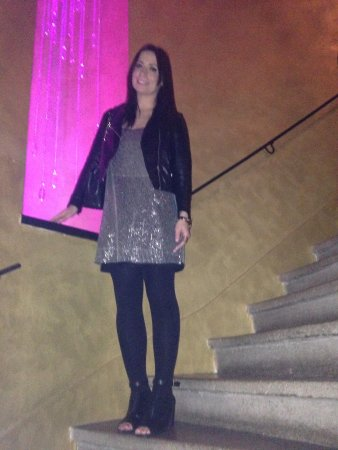 Design Hotel Jewel Prague: Stair case - ignore the posing!