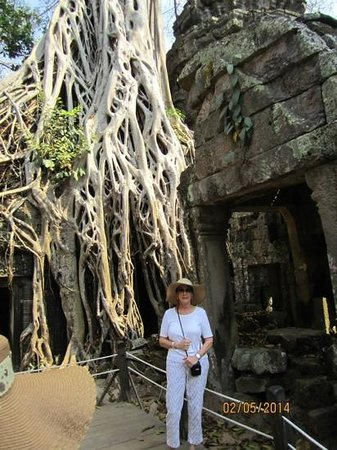 Ta Prohm : Tree roots growing eveywhere!