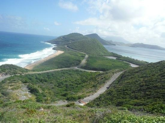 Clay Villa Plantation House & Gardens: The Atlantic and Caribbean with Nevis in the distance