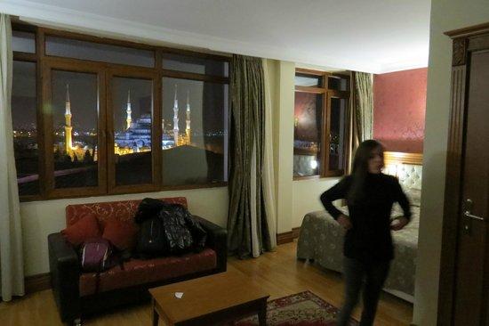 Lausos Hotel: La suite Sultanahmet et la vue sur la mosquée bleue