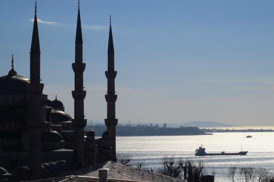 Lausos Hotel: La mosquée bleue au matin