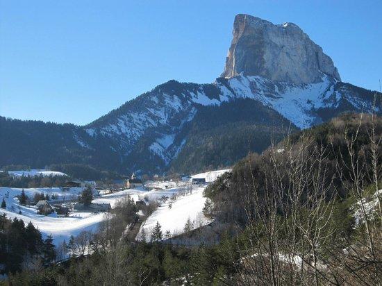 Hotel Restaurant Le Chalet: Vue sur le Mont-Aiguille