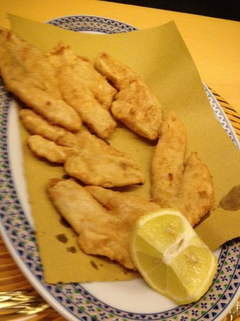 Trattoria da Picchietto: filetti di persico fritti