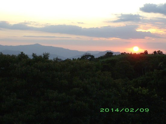 Finca Vibran Bed and Breakfast: Sunset from the rooftop