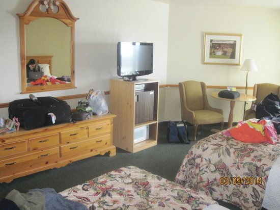 The Apple Tree Inn : room with flat screen tv & writing table
