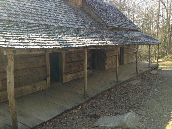 Noah Bud Ogle Cabin: Back of the Cabin