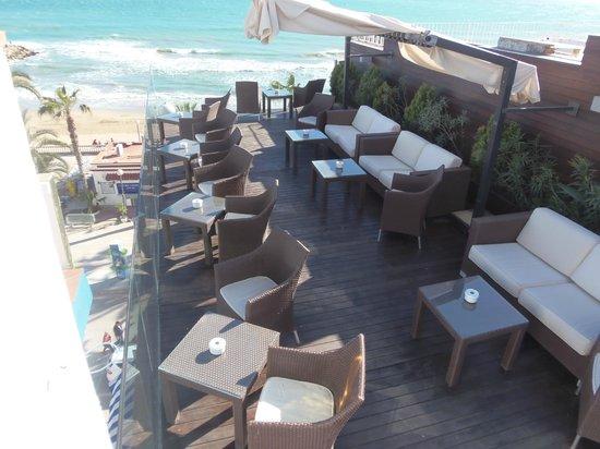 Hotel Platjador: BAR EN LA AZOTEA Hermosas vistas y zona de descanso