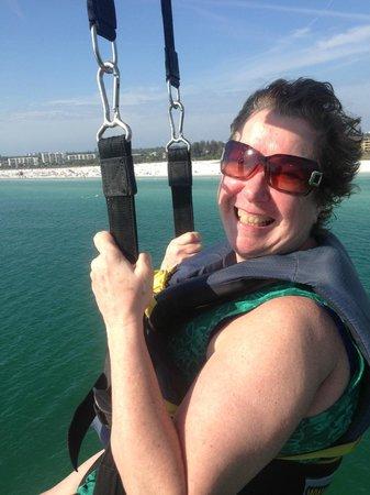 Siesta Key Watersports : my mom parasailing