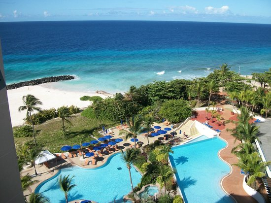 Hilton Barbados Resort: View from balcony of my room