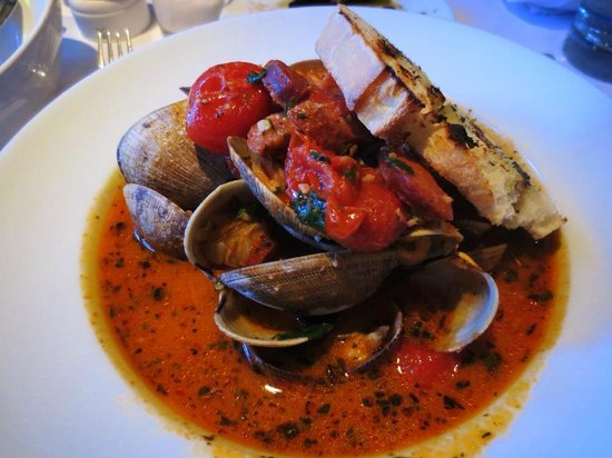 Wild Fig: To die for clams and chorizo!!!!!!!! I was slurping the soup after and dipping the bread in this
