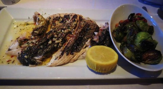 Wild Fig: whole fish of the day, this was only half portion, my husband has the other half