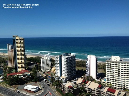 Surfers Paradise Marriott Resort & Spa : View from our room