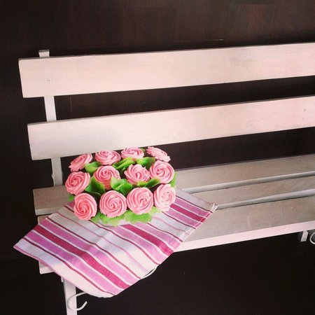 Lady Cakes: Maceta de flores (cupcakes)