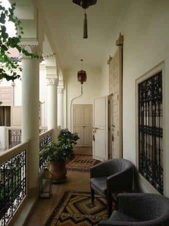 Riad Al Massarah : Our balcony.