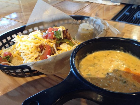 Torchy's Tacos - Fort Worth: Chicken Fajita Taco and Queso