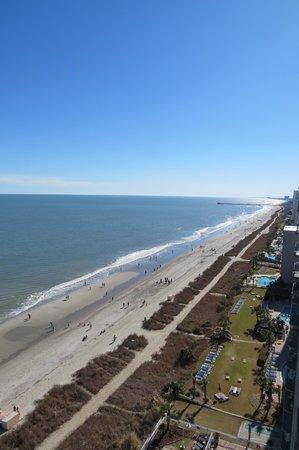 Paradise Resort: beach view 14th floor