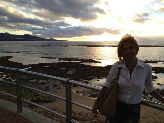 Playa de Las Canteras: Marea vacia