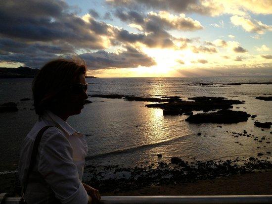 Playa de Las Canteras: Bonito atardecer