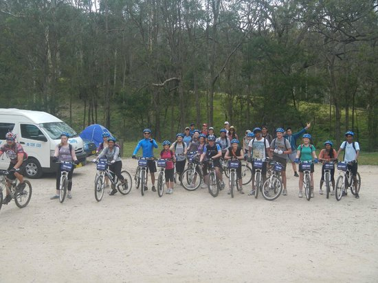 Manly Bike Tours and Bike Hire: Group shot before heading out