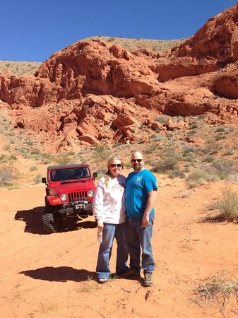Las Vegas Rock Crawlers : Sean and I in front of the Jeep we drove