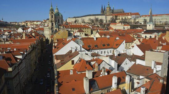 Hotel Pod Vezi : View of Prague Castle from Charles Bridge Tower