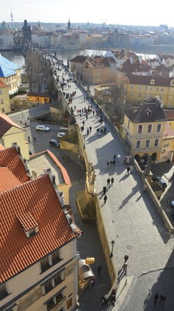 Hotel Pod Vezi : View of Charles Bridge from Charles Bridge Tower