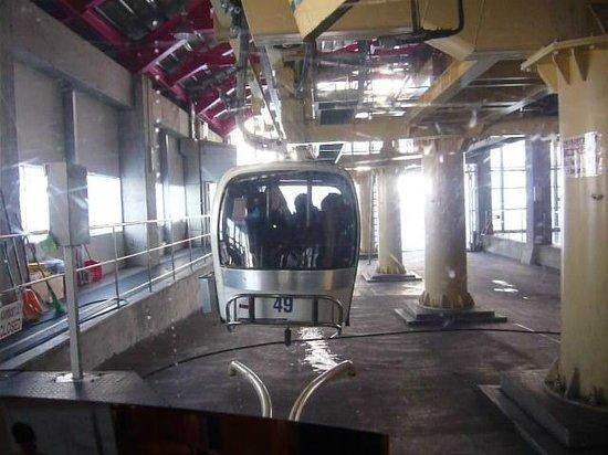 Niseko Village Ski Resort: ゴンドラは中央に座席のあるタイプです。