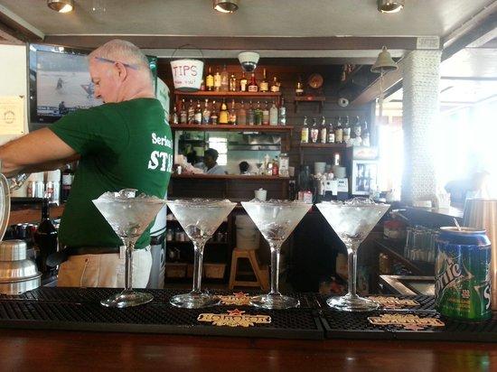 Sint Maarten Yacht Club Bar & Restaurant : Sid working hard!
