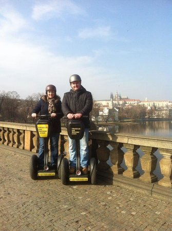 Prague On Segway : Castle in the background