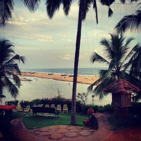 Somatheeram Ayurvedic Health Resort: Vista desde la zona del comedor