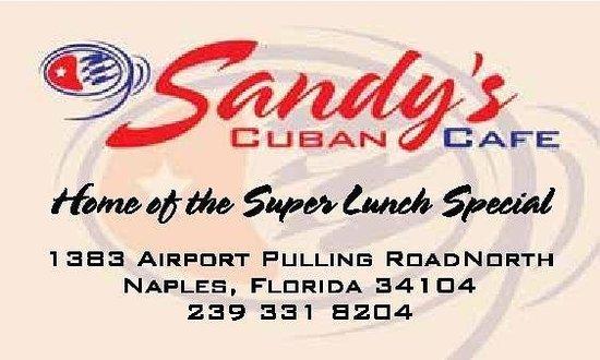 Sandys Cuban Cafe: Super Lunch Special