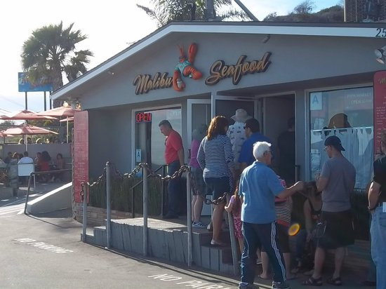 Worth the wait picture of malibu seafood fresh fish for Malibu seafood fresh fish market patio cafe