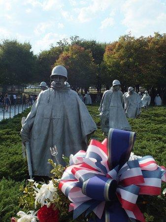 Korean War Veterans Memorial: Las esculturas