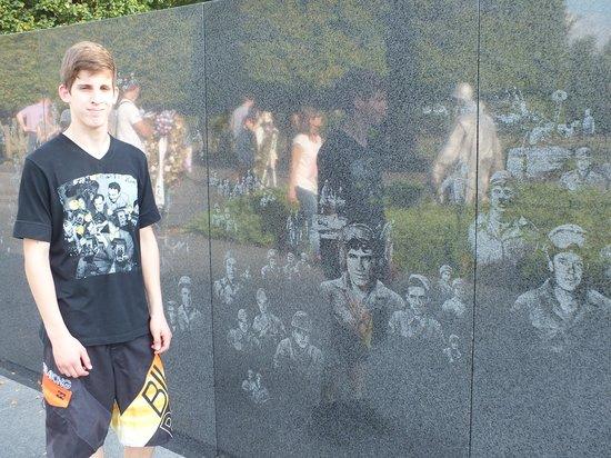 Korean War Veterans Memorial: el paredon