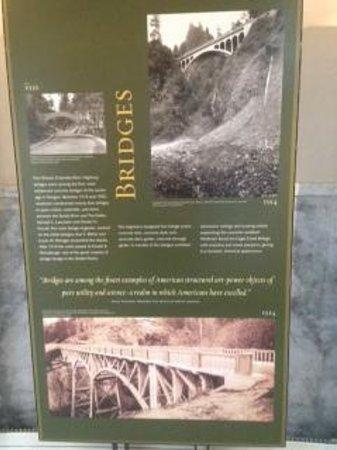 Bridges display in museum at Vista House