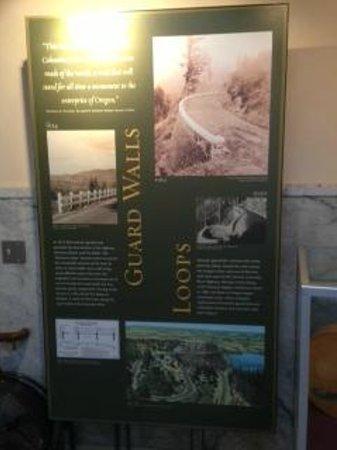 Guard Walls and Loops display in museum at Vista House