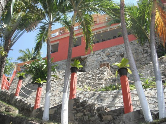 Hotel Irma: the walk up from beach