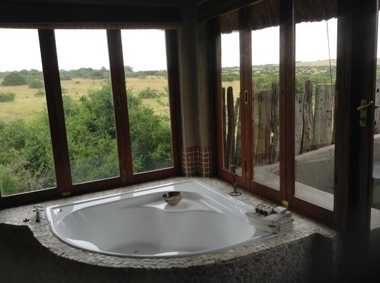 Hlosi Game Lodge: There's an outdoor shower, too.