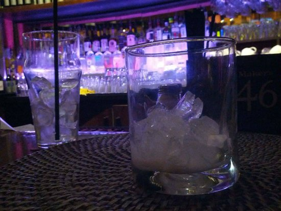 Metro: Empty glasses while the bartender watched TV