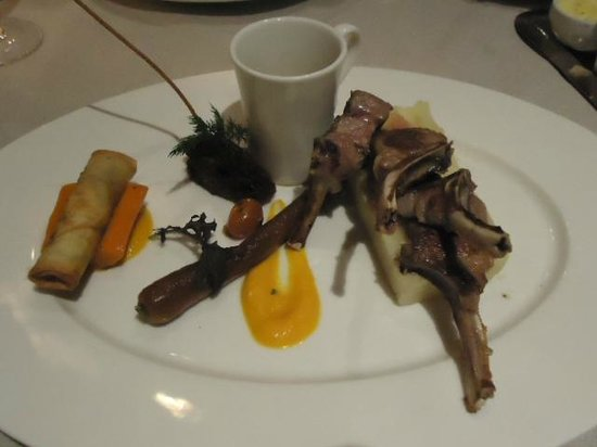 Restaurant of La Maison Arabe : Lamb chops.