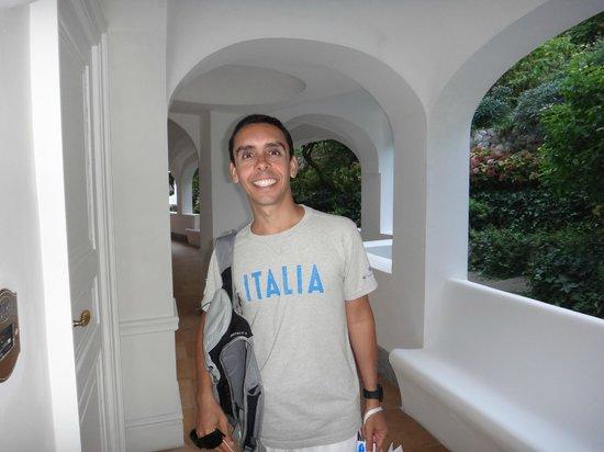 Hotel della Piccola Marina: Corredor dos quartos. Hotel lindo!