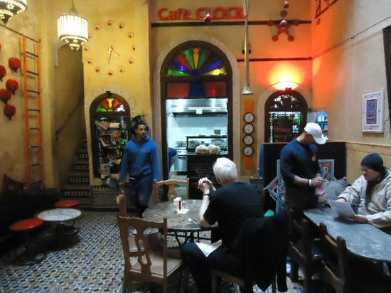 Cafe Clock: The friendliest staffs in Morocco.