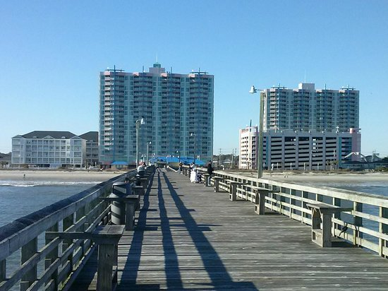 The Prince Resort: View of both towers from the pier.