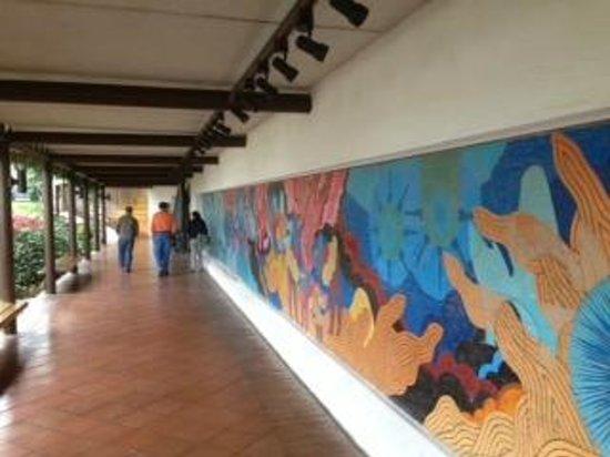 Restaurante Casa Santo Domingo : Mural at the entrance to Santo Domingo del Cerro