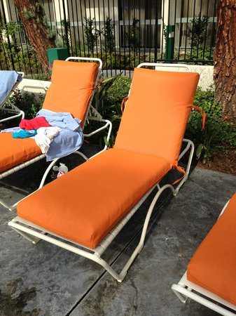 Howard Johnson Anaheim Hotel and Water Playground: great new pool chair covers!