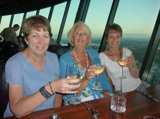 Orbit : Three friends enjoying dinner