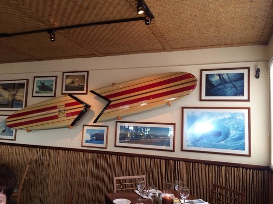 Haleiwa Joe's Seafood Grill : Board room wall of fame