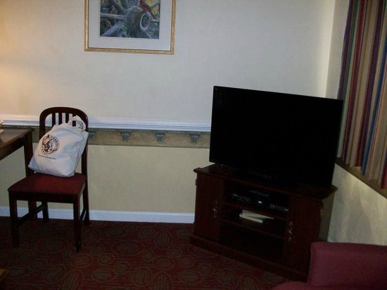 Luxbury Inn & Suites: TV in living room