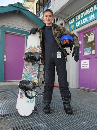 Greer, Αριζόνα: A very happy beginner boarder!
