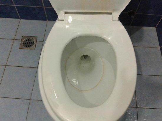 Arwana Perhentian Eco Resort & Beach Chalet : Unclean toilet bowl